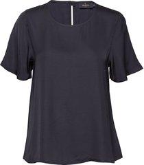 julie blouse blouses short-sleeved blauw morris lady