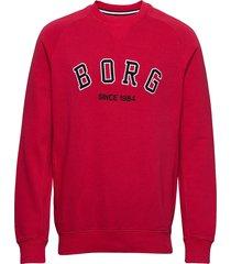 crew borg sport borg sport sweat-shirt tröja röd björn borg