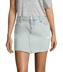 rta women's simone denim mini skirt - grail blue - size 2
