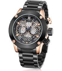 reloj de hombre t5 pulso acero h3657g-c - negro/oro rosa
