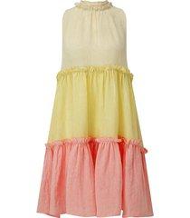 erica ruffle mini tiered dress