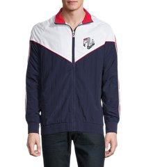 fila men's malcolm track jacket - navy white - size xxl