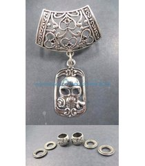 us seller-skull pendant slider scarf ring necklaces with charms