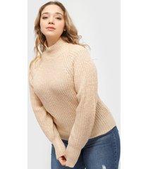 sweater brave soul beige - calce holgado
