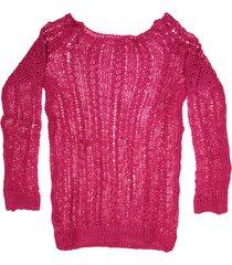 sweater fucsia exótica canelón