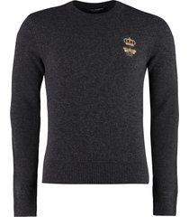 dolce & gabbana virgin wool crew-neck sweater