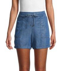 calvin klein women's denim pull-on shorts - indigo - size xs