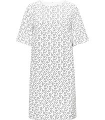 g1. printed dress kort klänning vit gant
