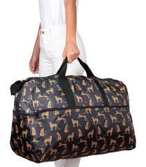 maleta xl plegable estampado leopardos citybags multicolor