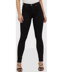 dr denim plenty denim leggings skinny svart