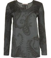 blouse met paisleyprint merida  grijs