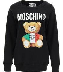 moschino sweatshirt with italian teddy bear