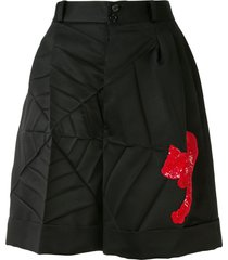 undercover sequined tailored shorts - black
