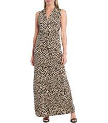 women's vince camuto nouveau leopard jersey maxi dress