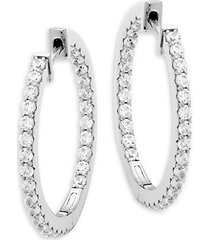 sterling silver embellished hoop earrings