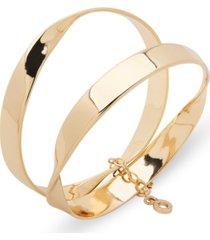 anne klein gold-tone 2-pc. set organic bangle bracelets