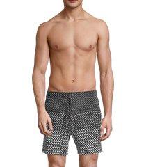 onia men's calder geometric swim shorts - black - size xl