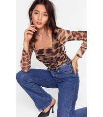 love like ours leopard high-leg bodysuit