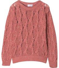 brunello cucinelli pink sweater