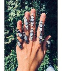 fazy księżyca - pierścionek z agatem