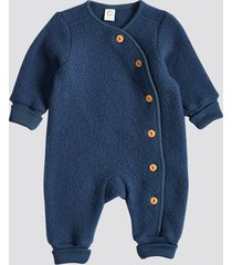 wool overall - metallblå