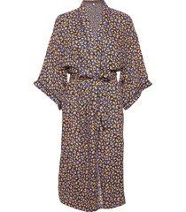 linora liberte kimono morgonrock blå becksöndergaard