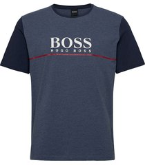 dynamic t-shirt rn t-shirts short-sleeved blå boss