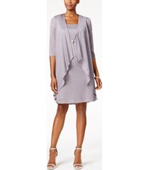 r & m richards shift dress and draped jacket