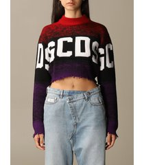 gcds sweater gcds cropped pullover with logo