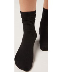 calzedonia sport socks woman black size m/l