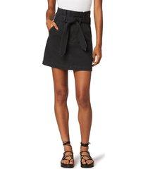 joe's the calypso paperbag waist denim mini skirt, size 34 in sabie at nordstrom