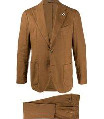 lardini tailored suit set - brown
