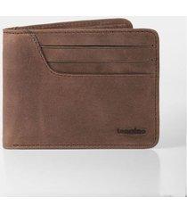 billetera de cuero liso