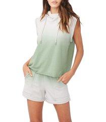 women's sundays hal sleeveless hoodie, size 0 - blue/green