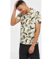 premium by jack & jones jprdale resort shirt s/s one pocket skjortor vit