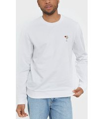 only & sons onsbilly reg crew neck sweat tröjor vit