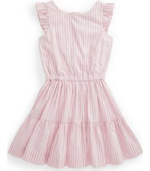 polo toddler girl striped tiered cotton dress