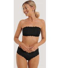na-kd lingerie basic brazilian micro panty - black