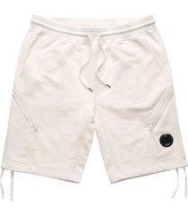 diagonal fleece lens shorts - white 177a-516 103