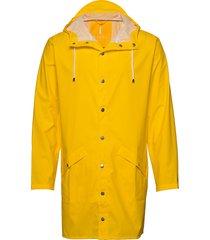 long jacket regenkleding geel rains