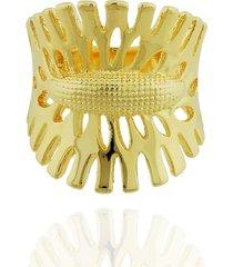 anel dona diva semi joias largo nature dourado