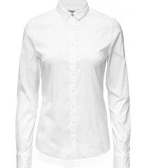 amy str shirt ls w1 overhemd met lange mouwen wit tommy hilfiger