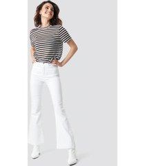 na-kd bootcut jeans - white