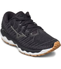 wave sky 4 waveknit shoes sport shoes running shoes svart mizuno