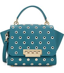 eartha top handle embroidered polka dot crossbody bag