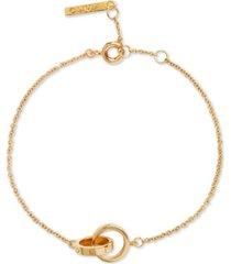 olivia burton classics double ring charm bracelet