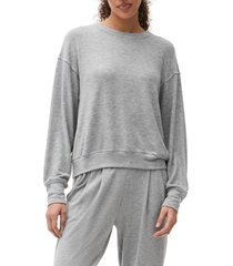 women's michael starts crewneck pullover top, size x-large - grey