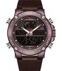 reloj militar café naviforce
