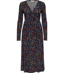 alina, 771 rayon jersey jurk knielengte multi/patroon stine goya