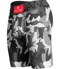 cueca boxer long leg kevland camuflado chumbo cinza - cinza/preto - dafiti